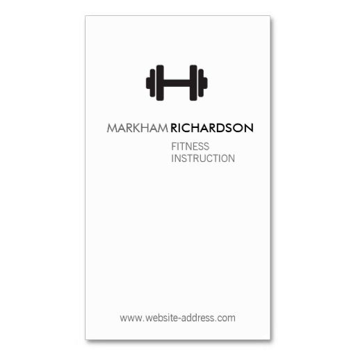 bold blackwhite personal trainer business card template