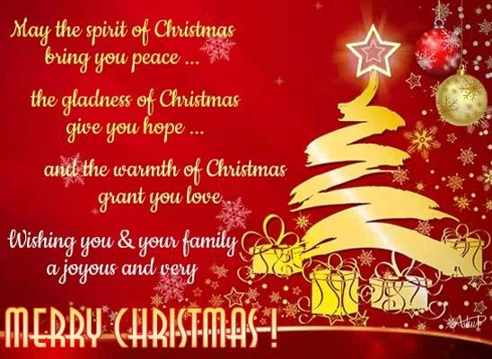 The Spirit Of Christmas Is In Love Peace Hope Faith And Joy Send Warm Wishes On Christmas Spiritofchristmas Ch Christmas Spirit Christmas Blessings Joy