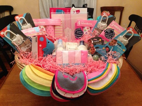 Cute Baby Shower Gift Basket Ideas For Girl Cute Baby Shower
