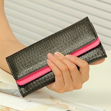 De las mujeres de la vendimia de piel de cocodrilo de tarjetas Monederos Monederos del embrague bolsos de noche - USD $ 10.99