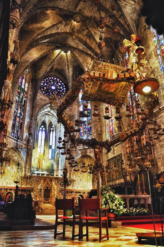 Alter At Palma De Mallorca La Cattedrale The Cathedral Of Santa Maria Of Palma Gaudi Palma De Mallorca Cathedral