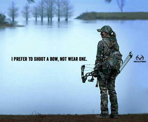 I prefer to shoot a bow, not wear one. Realtree