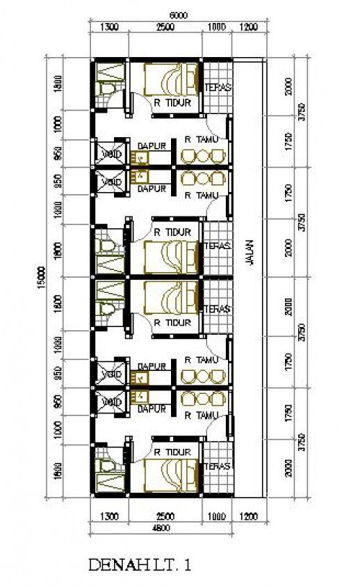 Desain Rumah Kost Kontrakan Di 2021 Desain Rumah Desain Rumah Minimalis Pertamanan Belakang Rumah