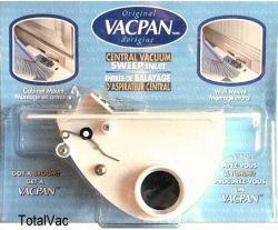 Central Vacuum Vac Pan - White