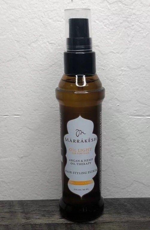 Marrakesh Earthly Body Argan Hemp Oil Light Hair Styling Elixir Dreamsicle 60ml Ebay Oil Light Light Hair Hemp Oil