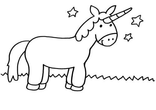 Einhorner Einhorn Und Sterne Zum Ausmalen Imagenes De Unicornios Dibujos Para Colorear Dibujos De Unicornios