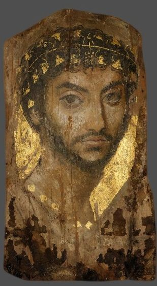 Mummy Portrait of a man, AD 117-138 (Chicago, ILL., Art Institute of Chicago):