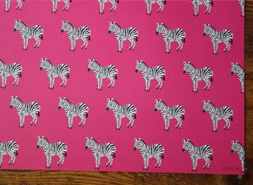 Zebras Gift Wrap eclectic accessories and decor