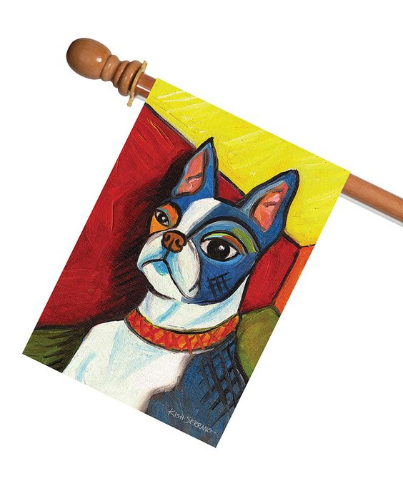 Look At This Pawcasso Boston Terrier Outdoor Flag On #zulily Today!