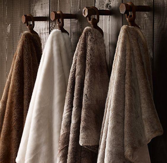 Restoration Hardware Sofa Throws: Restoration Hardware Luxe Faux Fur Throw