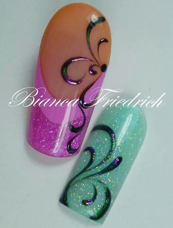 Gel design  Acrílic nails