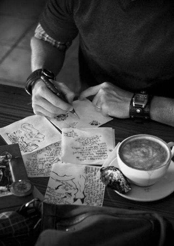 coffee and sketches