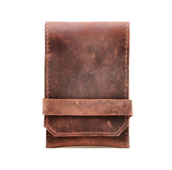 Designed to fit an iPhone4 (or any phone with similar dimensions), this sleek leather case doubles as a wallet with space for your essential cards on the flap - now you can always have your vitals together.  Built off of our signature pop-up card wallet design, this iPhone case has a pull tab that means you ...