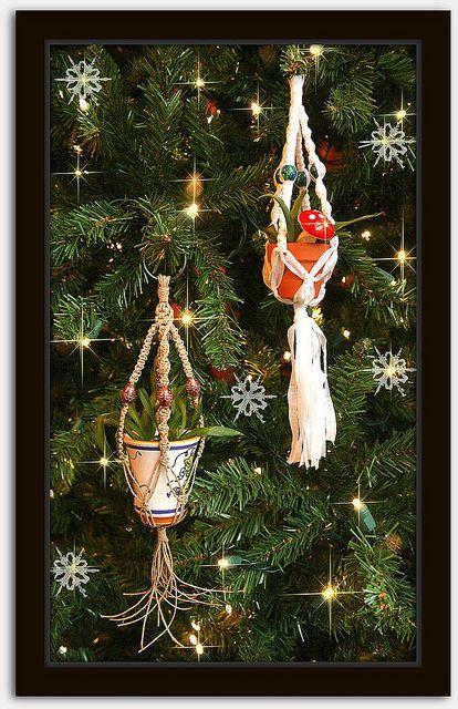 Minature Macramé Plant Hanger Ornaments! by Macramaking- Natural Macrame Plant Hangers, via Flickr