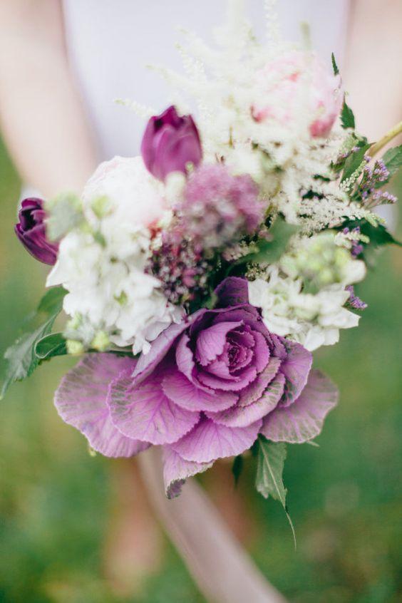 purple hued bouquet