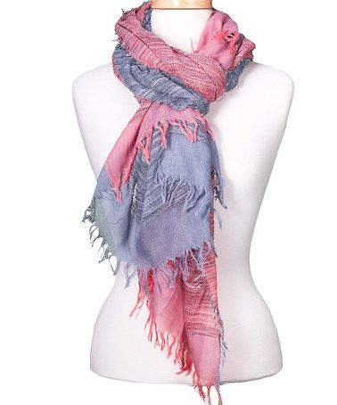 Look what I found on #zulily! Light Pink & Slate Duple-Tone Scarf #zulilyfinds