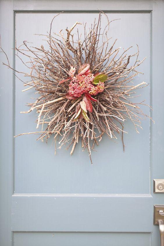 Diy Fall Door D Cor Twig Wreath Diy Decor Autumn