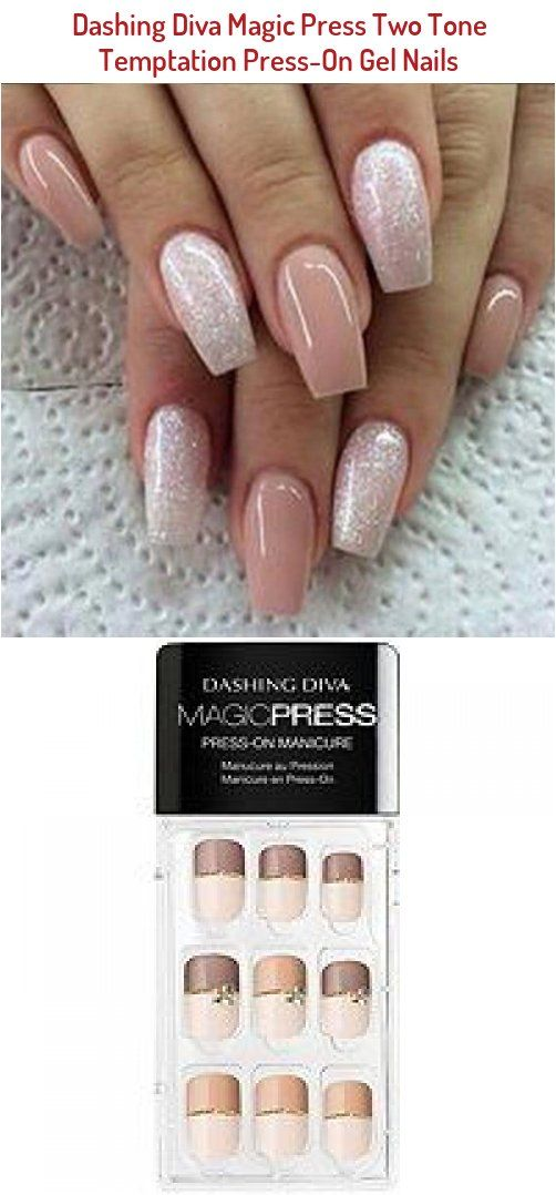 Magic Press Two Tone Temptation Press On Gel Nails The French Manicure Is Making A Comeback In A Big Way So Get Ahead Of Th In 2020 Bad Nails Gel Nails