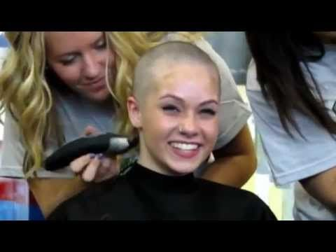 Head shave woman - YouTube