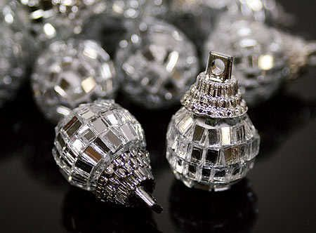 Holiday disco ball decorations.  Who DOESN'T need some of these?