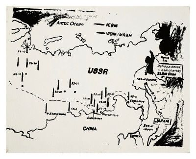 Warhol  Map of Eastern USSR Missile Bases, c.1985