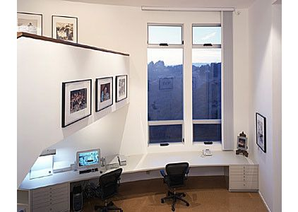 My dream office. Love the natural light. modern home office by MEYER ARCHITECTURE