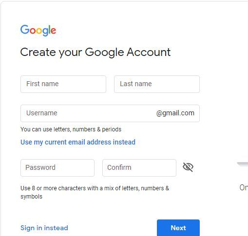 How To Create New Gmail Account For Others In 2020 Email Providers Accounting Gmail Sign
