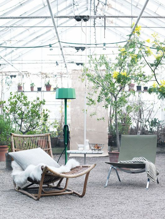 Hanging out in a beautiful green house, we can dig it!