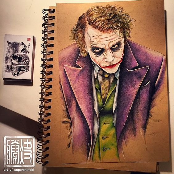 The Joker - This was my first ever completed prismacolor pencil piece and still one of my favourites