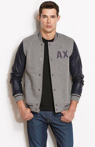 Varsity Bomber Jacket - Mens Sale - Armani Exchange | My Style