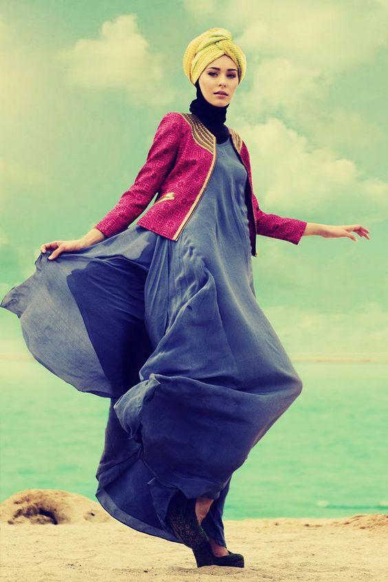 Maxi dress and cardigan dian
