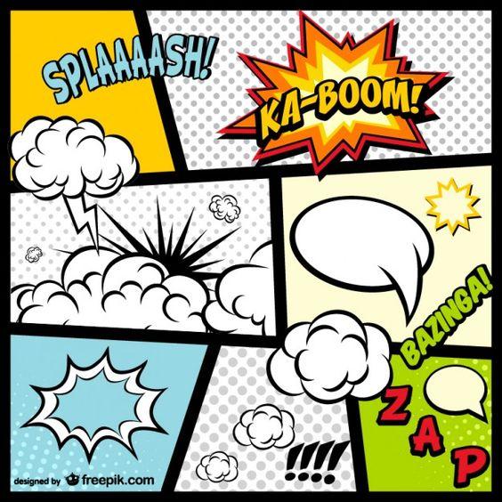 Elementos da página de quadrinhos download gratuito Vetor grátis