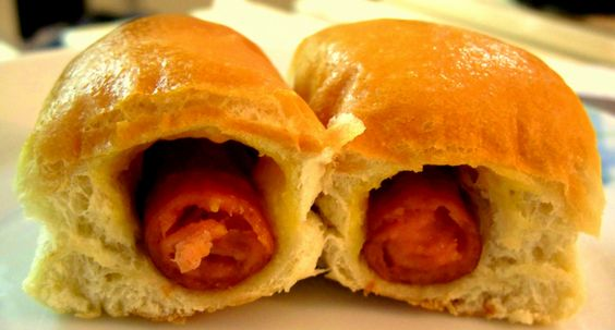 ... style to a pigs in a blanket or sausage roll but wrapped in kolache