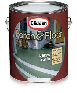 Glidden Porch Latex Satin Low Maintenance Paint This