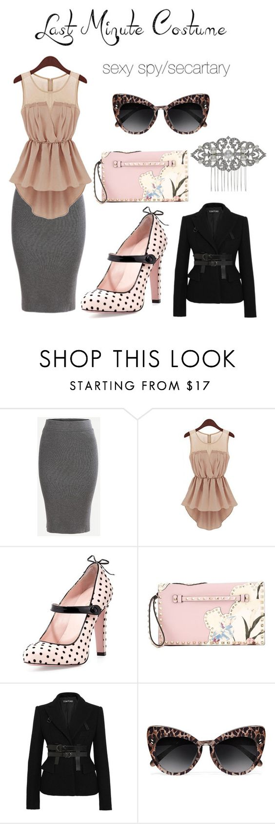 """""""Untitled #56"""" by carolyn-saltsman ❤ liked on Polyvore featuring RED Valentino, Valentino, Tom Ford, STELLA McCARTNEY and Jon Richard"""
