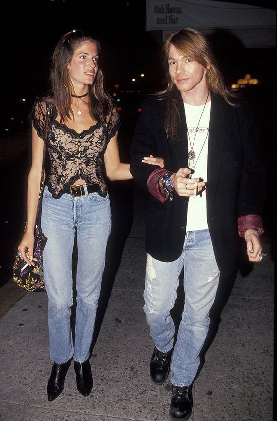 Stephanie Seymour and Axl Rose