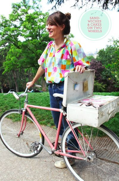 ''Tiffany makes organic vegetarian sandwiches & cakes and delivers them to people on her pink bicycle. She started Tifamade in Paris, but now she plans to bring the concept to the States. Her dream is to have a fleet of girls delivering her food on pink bicycles all over the world''.