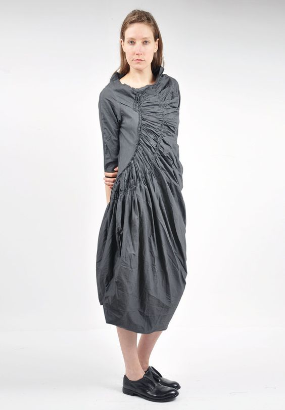 rundholz black label ruched tulip dress in tang oh look clothes pinterest tulip dress. Black Bedroom Furniture Sets. Home Design Ideas