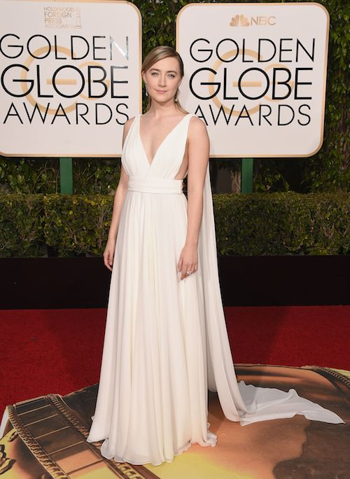 Saoirse Ronan attends the 73rd Annual Golden Globe Awards held at the Beverly Hilton Hotel on January 10, 2016 in Beverly Hills, California.: