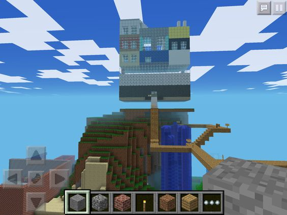 how to build a hotel in minecraft pe