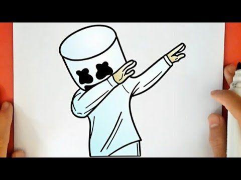 رسم مارشميلو سهل بالرصاص رسم سهل كيفية رسم مارشميلو تعليم الرسم How To Draw Marshmello Easy Youtube Peace Gesture Peace