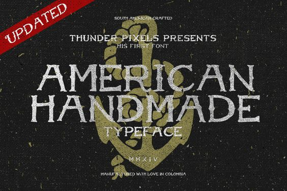 $12 for this handmade font | Check out American Handmade Typeface by ThunderPixels Store on Creative Market