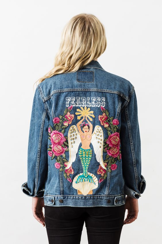 Insanely Cute Embroidered Jean Jacket