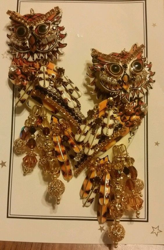 Lunch at the ritz 'hoot couture' owl earrings #LunchattheRitz