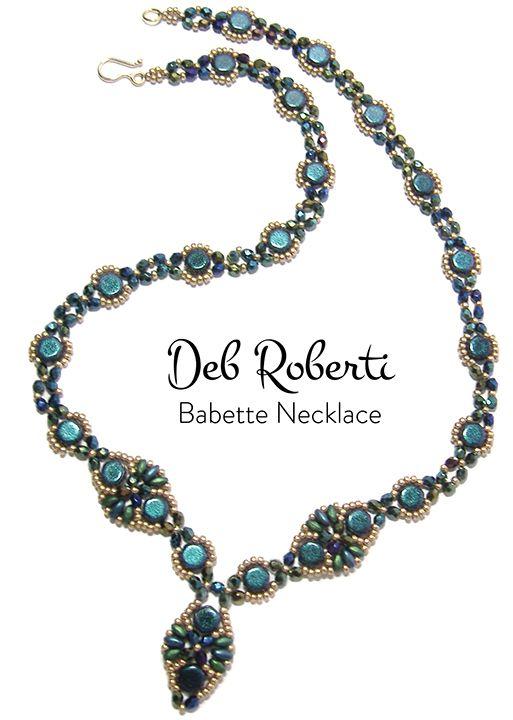 Babette Necklace at AroundTheBeadingTable.com