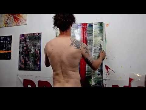 Artist Paul LaFlam: Creation of Large-Scale One-Shot Expressionist Paintings - YouTube