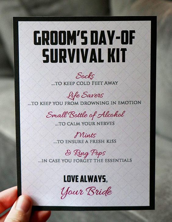 Hey, I found this really awesome Etsy listing at https://www.etsy.com/listing/125876668/groom-survival-kit-instant-download-5-by