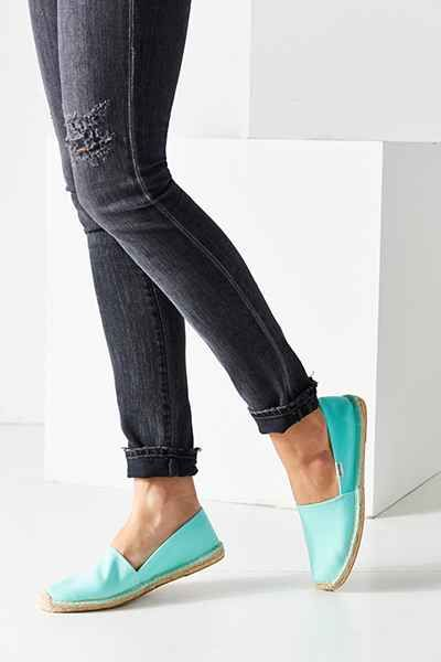 slip on mint espadrilles