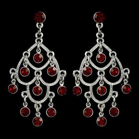 Burgundy, Chandelier, Earrings, Jewelry, Red, Rhinestones, Sale ...
