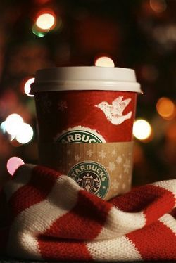 one of my favorite parts of the holiday season...Starbucks Christmas cups filled with peppermint mocha, one of the things that makes me so so happy!